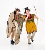 Dancing shamans Royalty Free Stock Photo