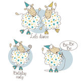 Dancing sheep Stock Photo