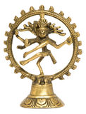 Dancing Shiva on white background Royalty Free Stock Photography