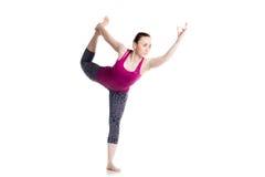 Dancing shiva yoga pose Royalty Free Stock Image