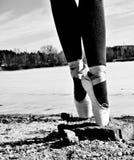 Dancing shoes at reservoir Stock Photos