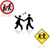 Dancing signs Royalty Free Stock Photography