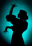 Dancing silhouette Stock Photography
