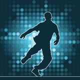 Dancing silhouette, breakdance Stock Photos