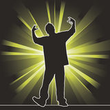 Dancing silhouette, hip-hop Stock Photos