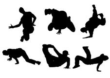 Dancing silhouette I Royalty Free Stock Images