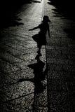 Dancing silhouette Stock Image