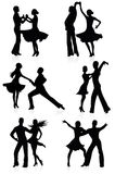 Dancing silhouettes. Royalty Free Stock Photos