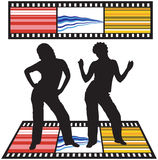 Dancing silhouettes Royalty Free Stock Photo