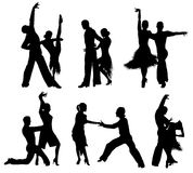 Dancing silhouettes. Stock Images