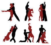 Dancing silhouettes. Stock Photography