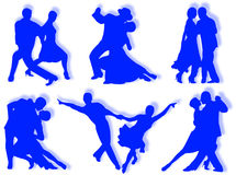 Dancing silhouettes Stock Photo