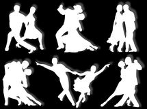 Dancing silhouettes Royalty Free Stock Photography