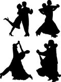 DANCING SILHOUETTES Stock Image