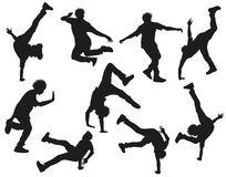Dancing silhouettes Stock Photography