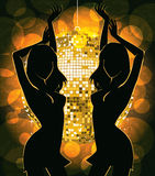 Dancing silhouettes Stock Photos