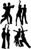 Dancing silhouttes Royalty Free Stock Photos