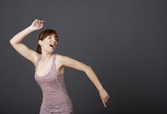 Dancing and singing Royalty Free Stock Images