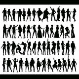 Dancing and singing people new set Stock Photography