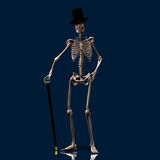 Dancing Skeleton #01. A dancing Skeleton with hat and stick - very stylish Stock Photos