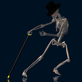 Dancing Skeleton #02 Royalty Free Stock Images