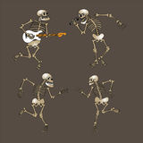 Dancing skeleton Royalty Free Stock Photography