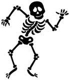 Dancing skeleton silhouette royalty free illustration