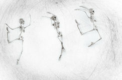 Dancing Skeleton Stock Photography