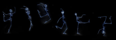 Dancing Skeleton X-Ray Royalty Free Stock Photo