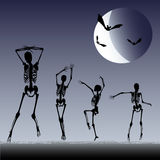 Dancing Skeletons Stock Photography