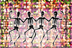 Dancing Skeletons Royalty Free Stock Photography
