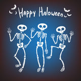 Dancing skeletons Stock Photo