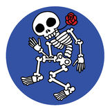 Dancing skeletons Royalty Free Stock Image
