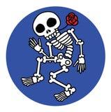 Dancing skeletons Royalty Free Stock Image