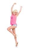Dancing slim girl Stock Photos