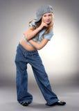 Dancing smiling girl Stock Photos