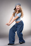 Dancing smiling girl Royalty Free Stock Photography