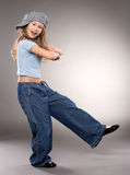 Dancing smiling girl Stock Images