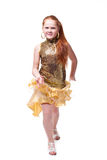 Dancing smiling little girl Stock Photo