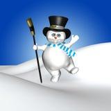 Dancing Snowman Royalty Free Stock Photo
