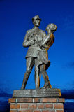 Dancing soldier statue in Grudziadz, Poland Stock Images