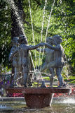 Dancing statues water fountain Royalty Free Stock Photo