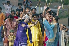 Dancing in the Street - Wagah - Punjab - India Stock Photography