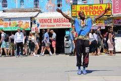 Dancing street crew on Venice beach California royalty free stock photos