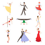 Dancing Styles Flat design Royalty Free Stock Photography
