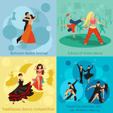 Dancing styles vector concepts set Stock Images
