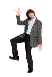 Dancing stylish young man Royalty Free Stock Photos