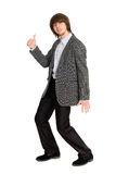 Dancing stylish young man Royalty Free Stock Images