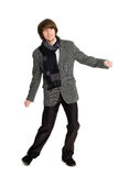 Dancing stylish young man Royalty Free Stock Image