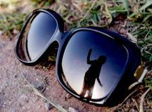 Dancing in sunglasses stock photos